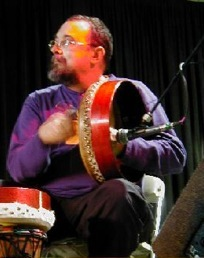 Albert Alfonso playing bodhrán