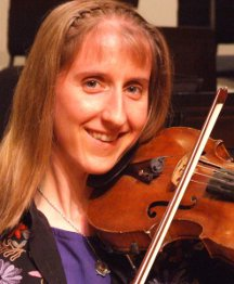 Clare Cason playing fiddle