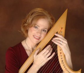 Therese Honey with harp