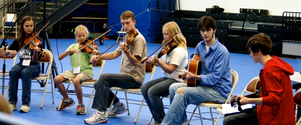 young musicians perform