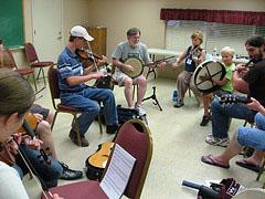 people playing Irish music together